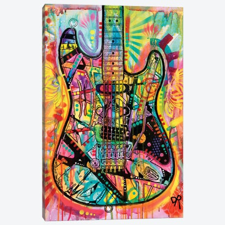Guitar Canvas Print #DRO412} by Dean Russo Canvas Artwork