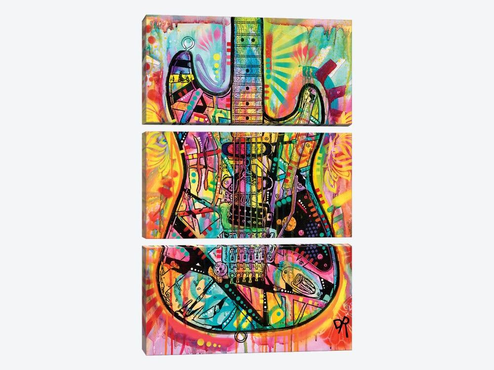Guitar by Dean Russo 3-piece Canvas Print