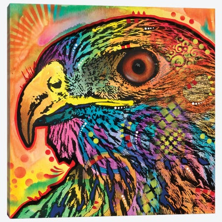 Hawk Eye Canvas Print #DRO418} by Dean Russo Canvas Wall Art