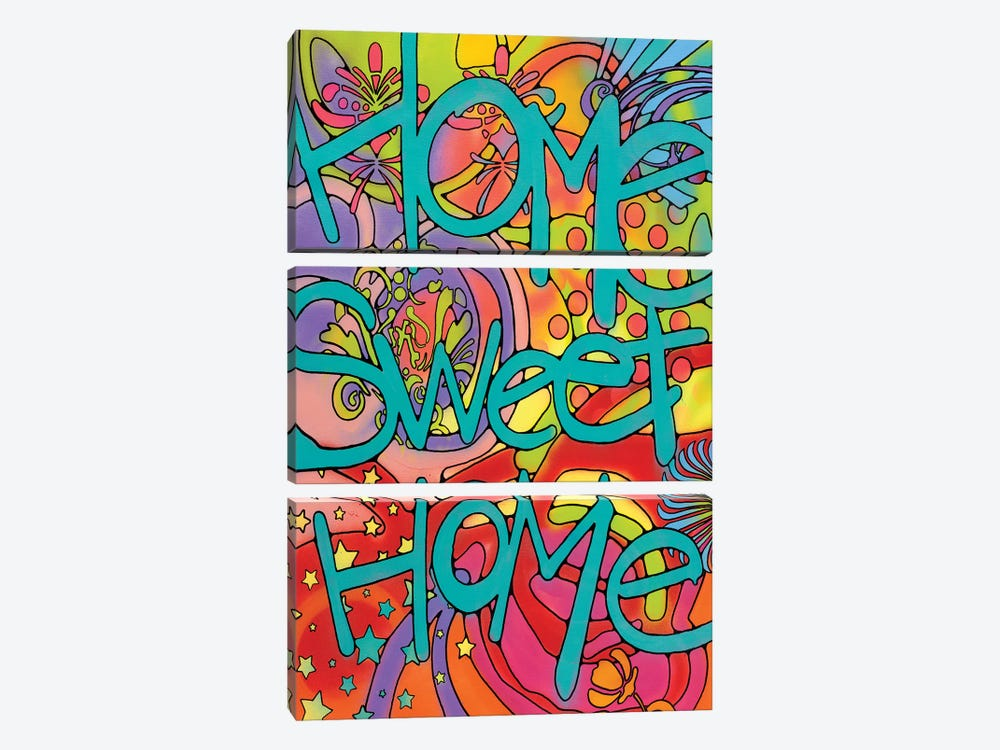 Home Sweet Home by Dean Russo 3-piece Canvas Artwork