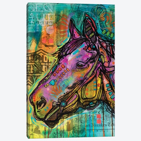 Horsepower Canvas Print #DRO421} by Dean Russo Canvas Art Print