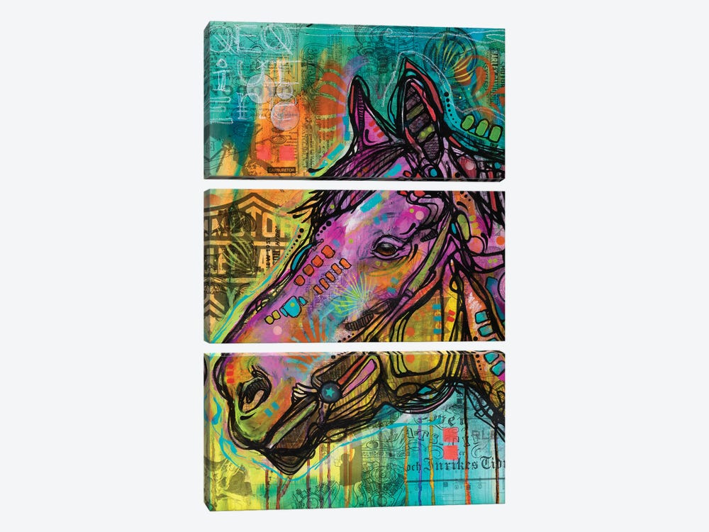 Horsepower by Dean Russo 3-piece Canvas Art Print