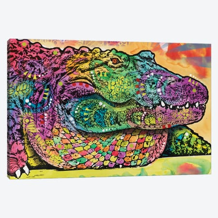 In Awhile Crocodile II Canvas Print #DRO423} by Dean Russo Canvas Print