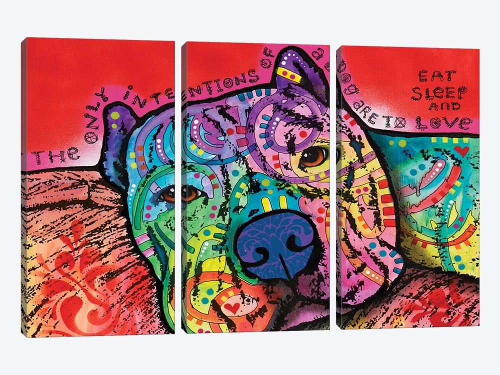 Intentions by Dean Russo 3-piece Canvas Artwork