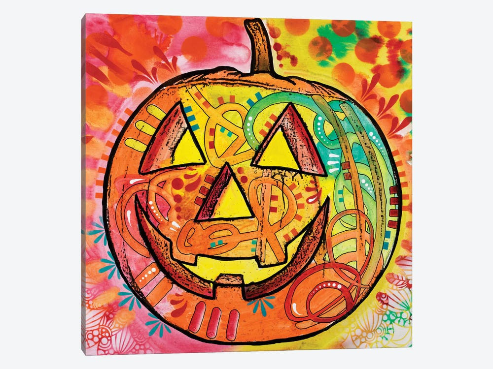 Jack O' Lantern by Dean Russo 1-piece Canvas Art