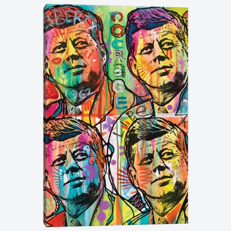JFK 4 Up Canvas Print #DRO430} by Dean Russo Canvas Wall Art