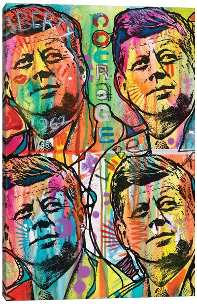 JFK 4 Up Canvas Art Print