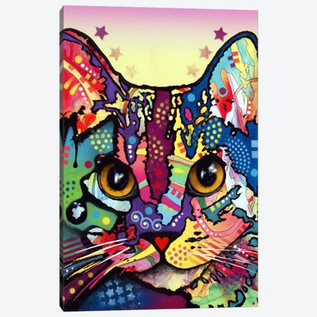 Maya Cat Canvas Print #DRO44} by Dean Russo Art Print