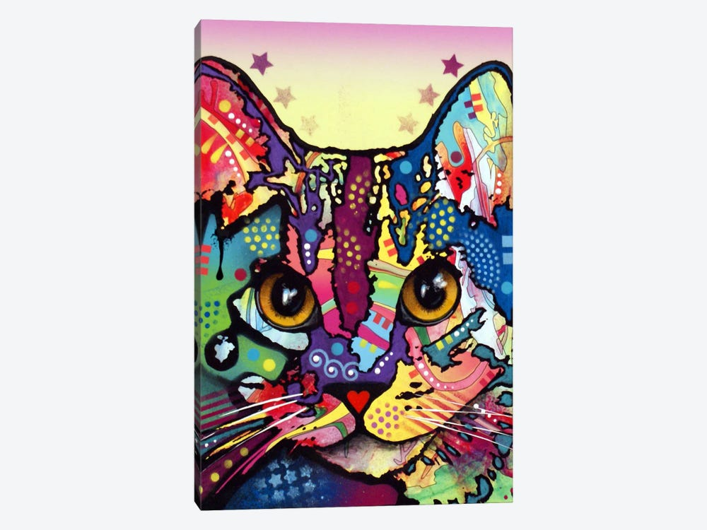 Maya Cat by Dean Russo 1-piece Canvas Art Print