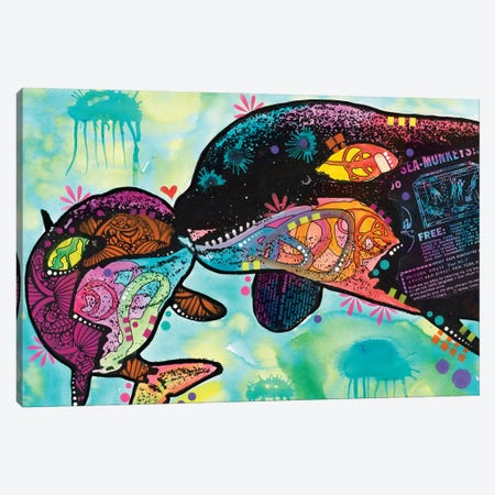Love As Large As A Whale Canvas Print #DRO452} by Dean Russo Canvas Wall Art