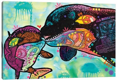 Love As Large As A Whale Canvas Art Print