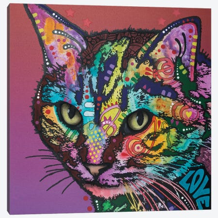 Lucy The Cat Canvas Print #DRO459} by Dean Russo Canvas Artwork