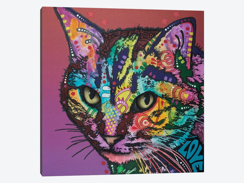 Lucy The Cat by Dean Russo 1-piece Canvas Art