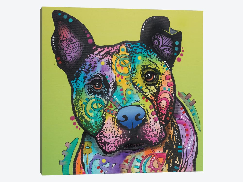 Lucy The Dog by Dean Russo 1-piece Canvas Artwork