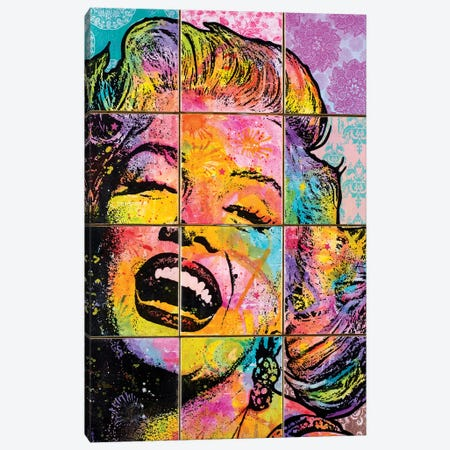 Marilyn In Tiles Canvas Print #DRO465} by Dean Russo Canvas Artwork