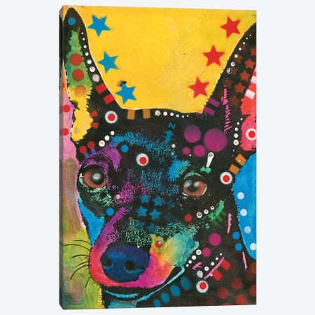 Miniature Pinscher Canvas Print #DRO472} by Dean Russo Canvas Wall Art