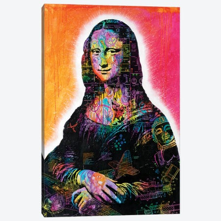 Mona Lisa Peaking Canvas Print #DRO473} by Dean Russo Canvas Artwork