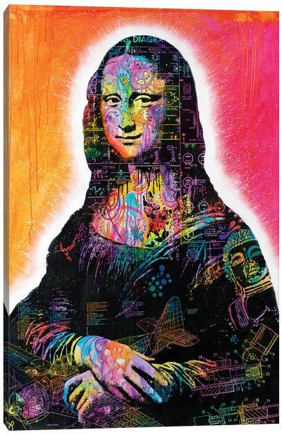 Mona Lisa Peaking Canvas Art Print