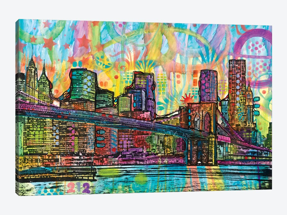 NYC-Brooklyn Bridge by Dean Russo 1-piece Canvas Print