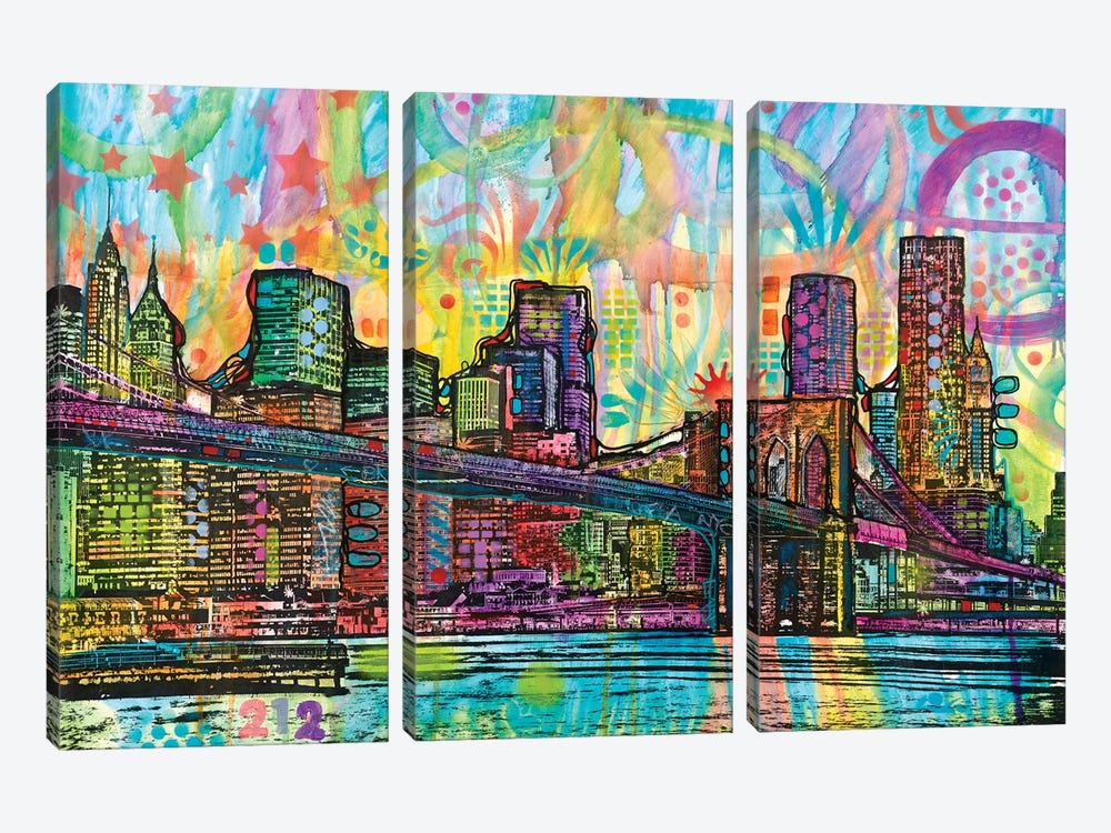 NYC-Brooklyn Bridge by Dean Russo 3-piece Art Print