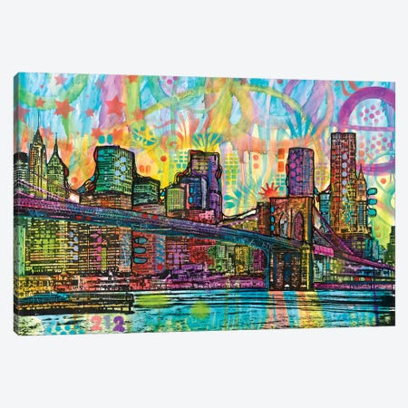 NYC-Brooklyn Bridge Canvas Print #DRO478} by Dean Russo Canvas Artwork