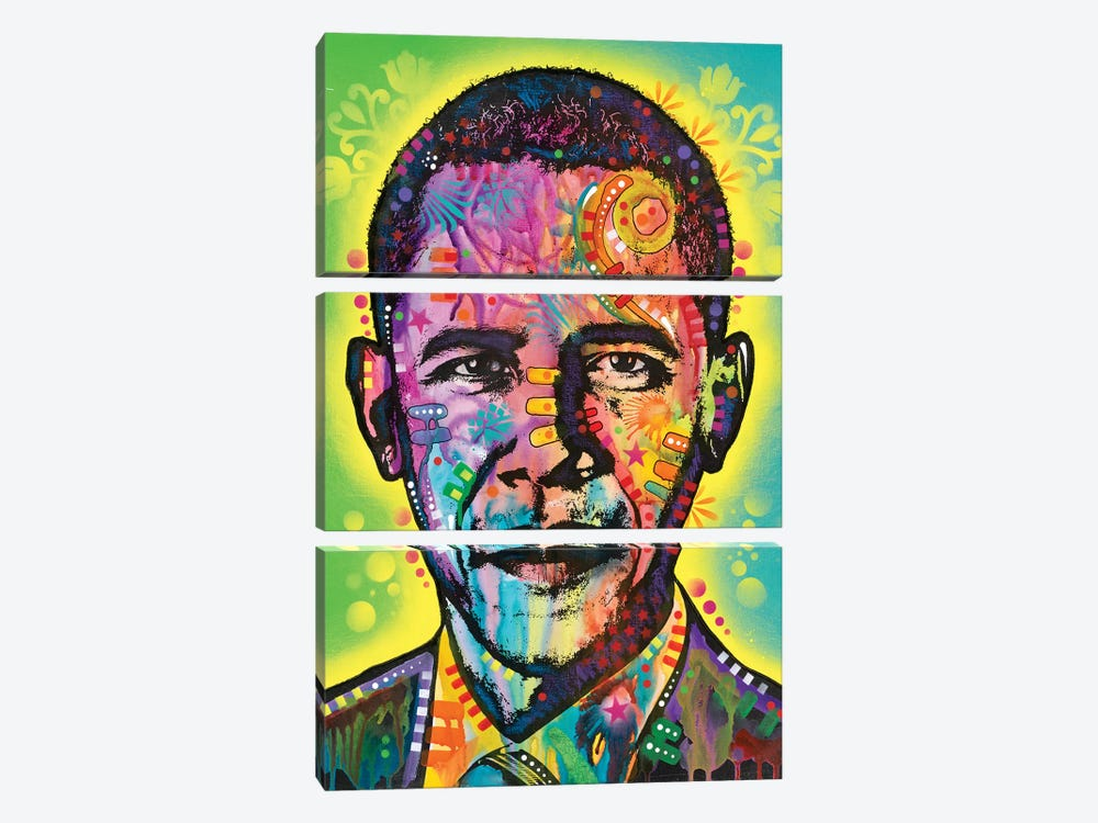 Obama by Dean Russo 3-piece Canvas Art