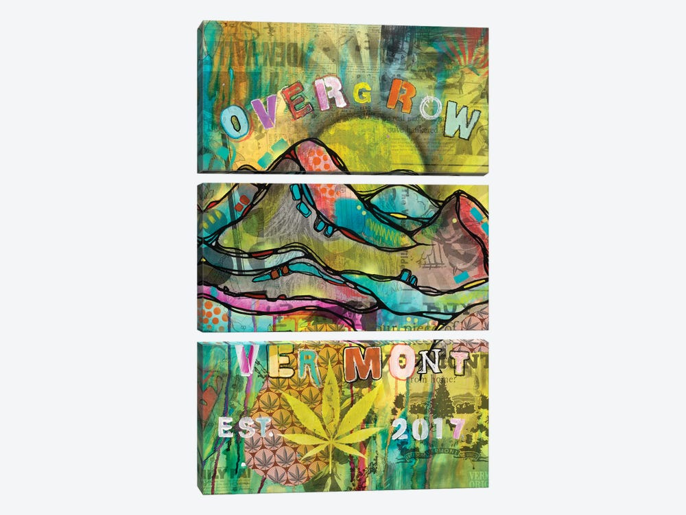 Overgrow Vermont by Dean Russo 3-piece Canvas Art Print