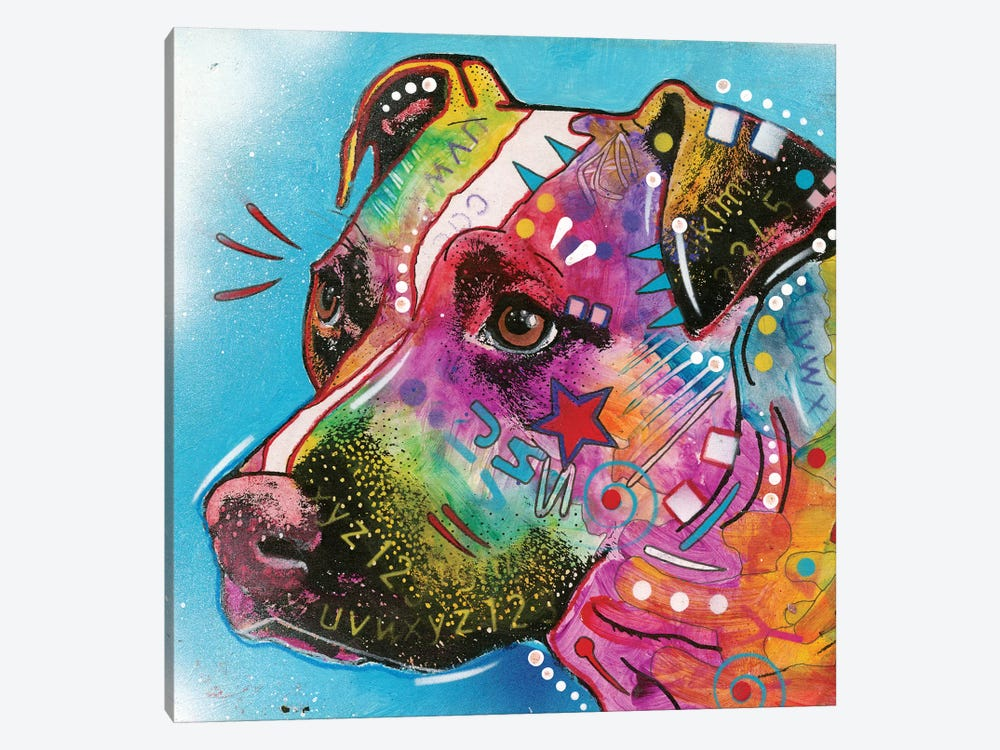 Pit Bull II by Dean Russo 1-piece Canvas Artwork