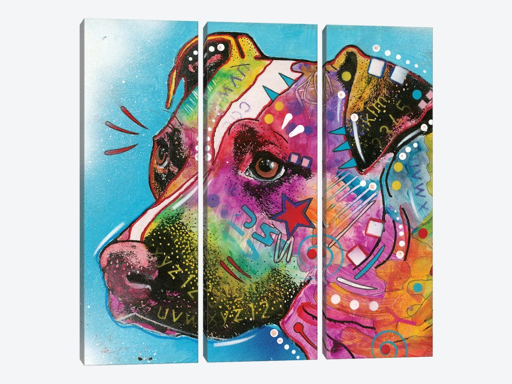 Pit Bull II by Dean Russo 3-piece Canvas Artwork