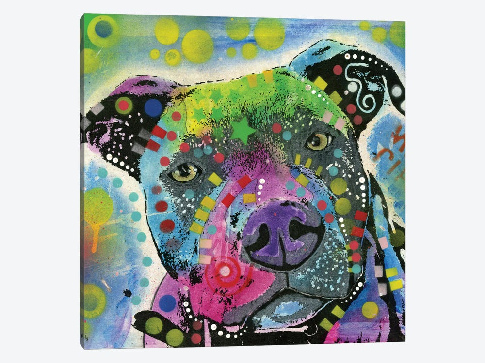Pit Bull III by Dean Russo 1-piece Canvas Print