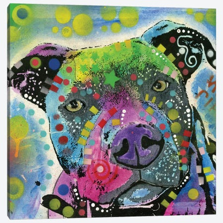 Pit Bull III Canvas Print #DRO487} by Dean Russo Canvas Art