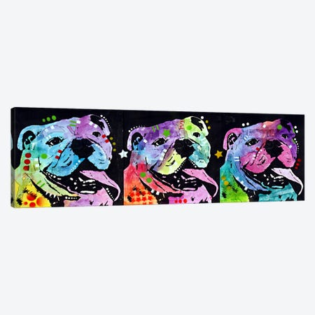 3 Bulldogs Canvas Print #DRO48} by Dean Russo Canvas Art