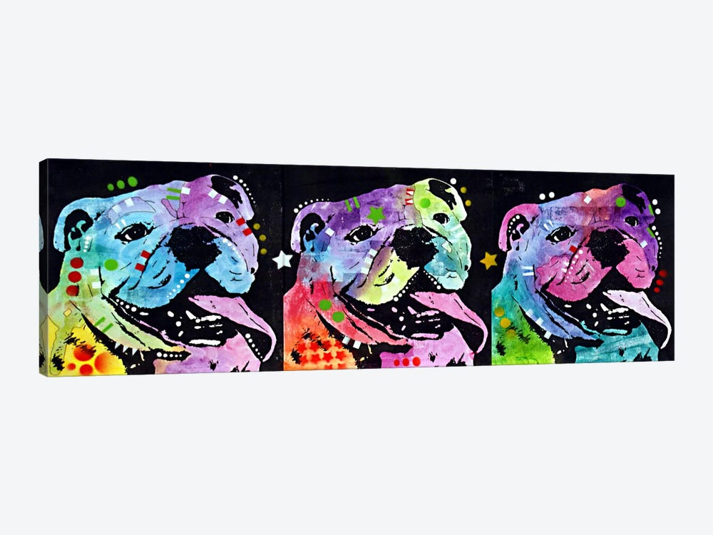 3 Bulldogs by Dean Russo 1-piece Art Print