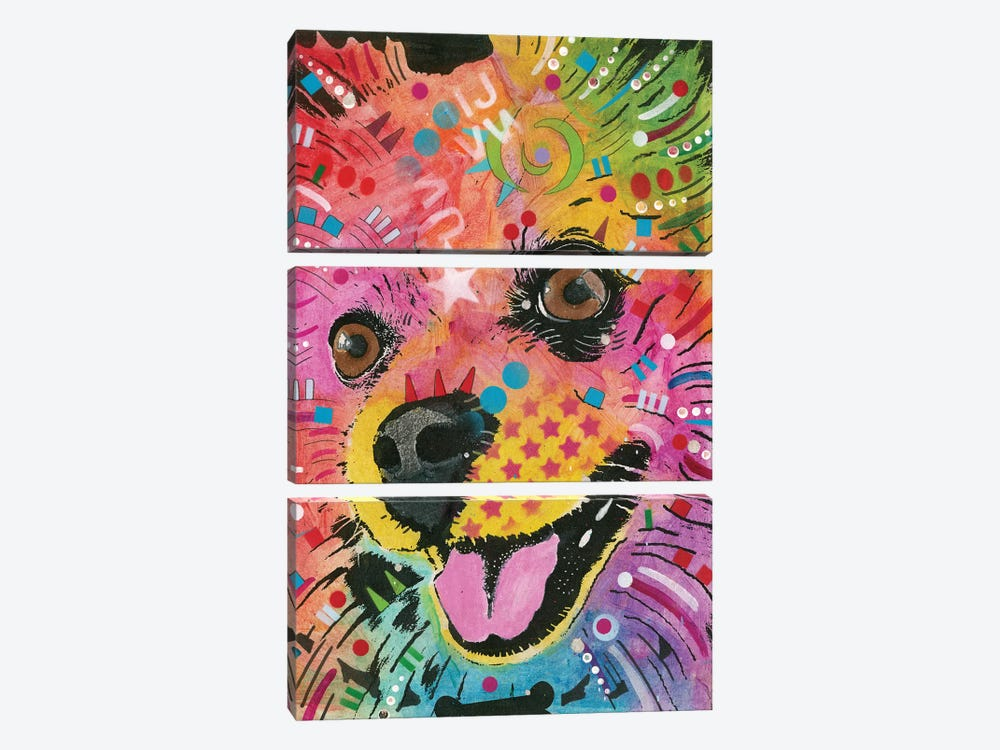 Pomeranian by Dean Russo 3-piece Canvas Art