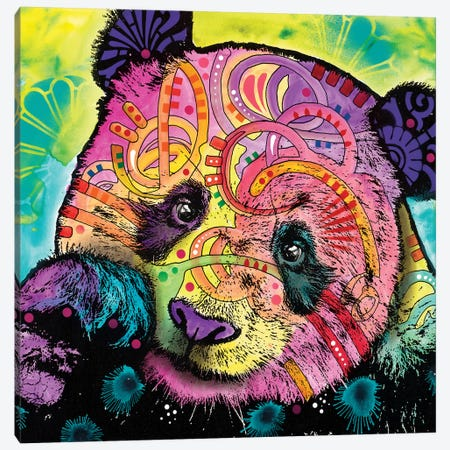 Psychedelic Panda Canvas Print #DRO494} by Dean Russo Art Print