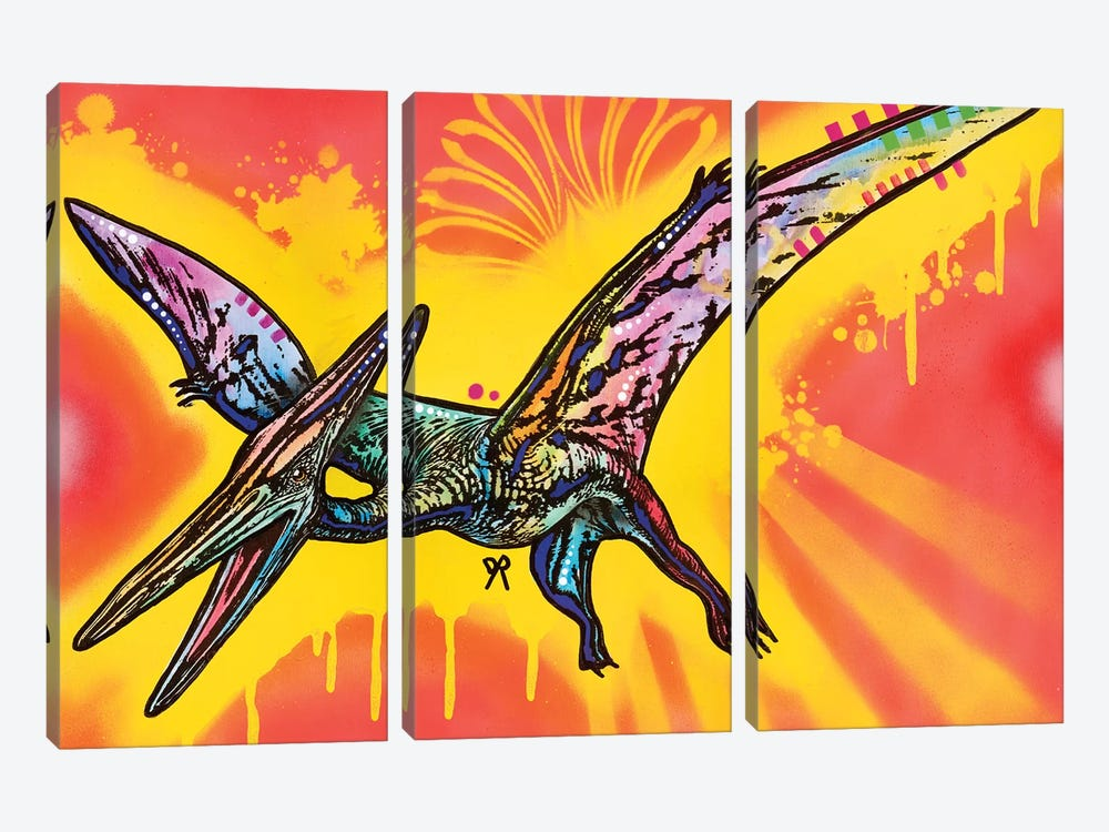 Pterodactyl by Dean Russo 3-piece Canvas Art