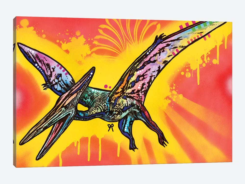 Pterodactyl by Dean Russo 1-piece Canvas Wall Art