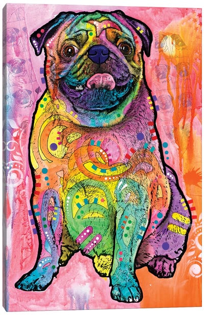 Pugs & Kisses Canvas Art Print