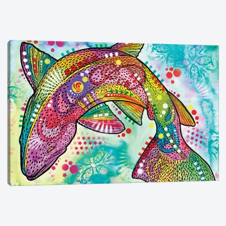 Rainbow Trout Canvas Print #DRO502} by Dean Russo Canvas Artwork