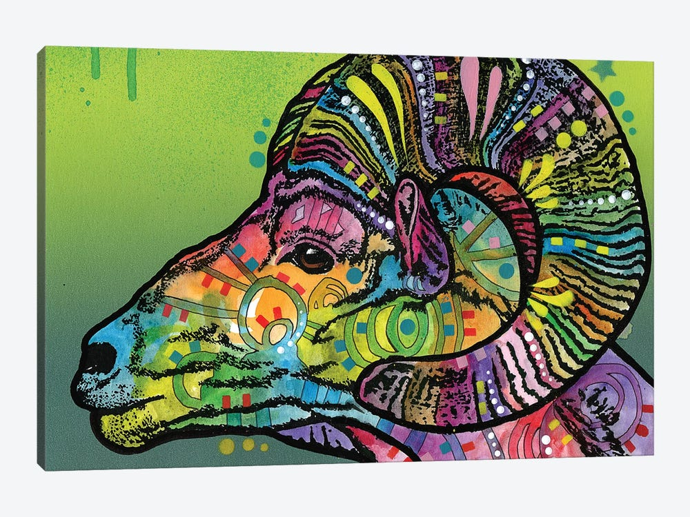 Ram by Dean Russo 1-piece Canvas Wall Art