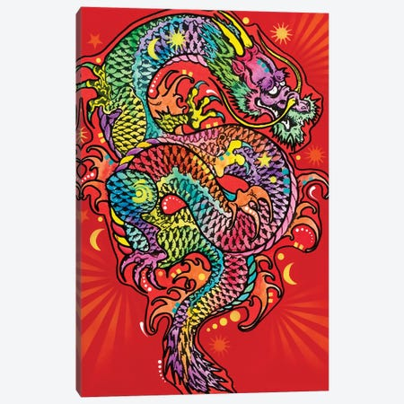 Red Dragon Canvas Print #DRO506} by Dean Russo Art Print