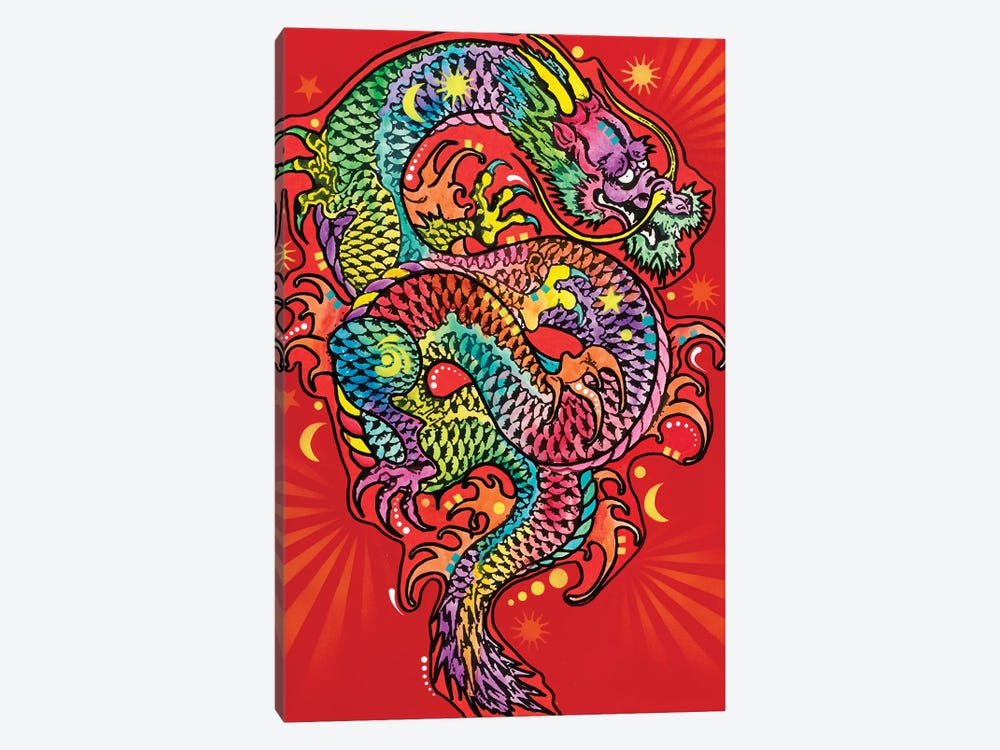 Red Dragon by Dean Russo 1-piece Canvas Art Print