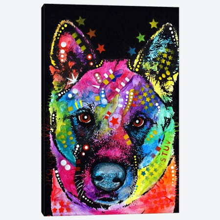 Akita Canvas Print #DRO50} by Dean Russo Canvas Art Print