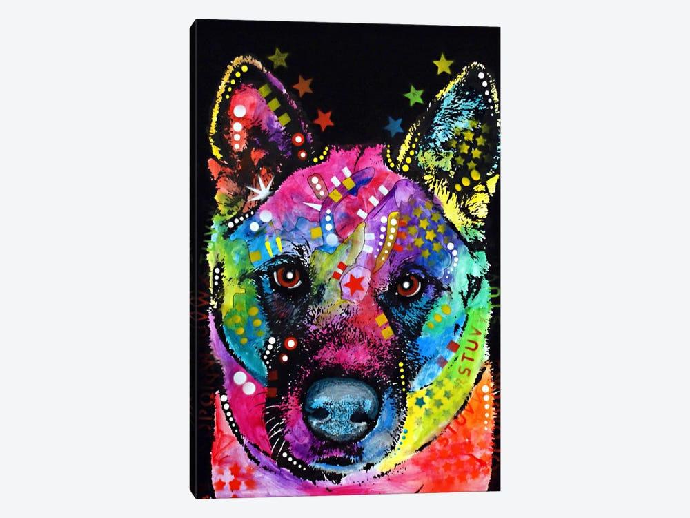 Akita by Dean Russo 1-piece Canvas Art
