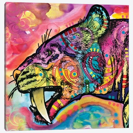 Saber Tooth Canvas Print #DRO517} by Dean Russo Canvas Wall Art
