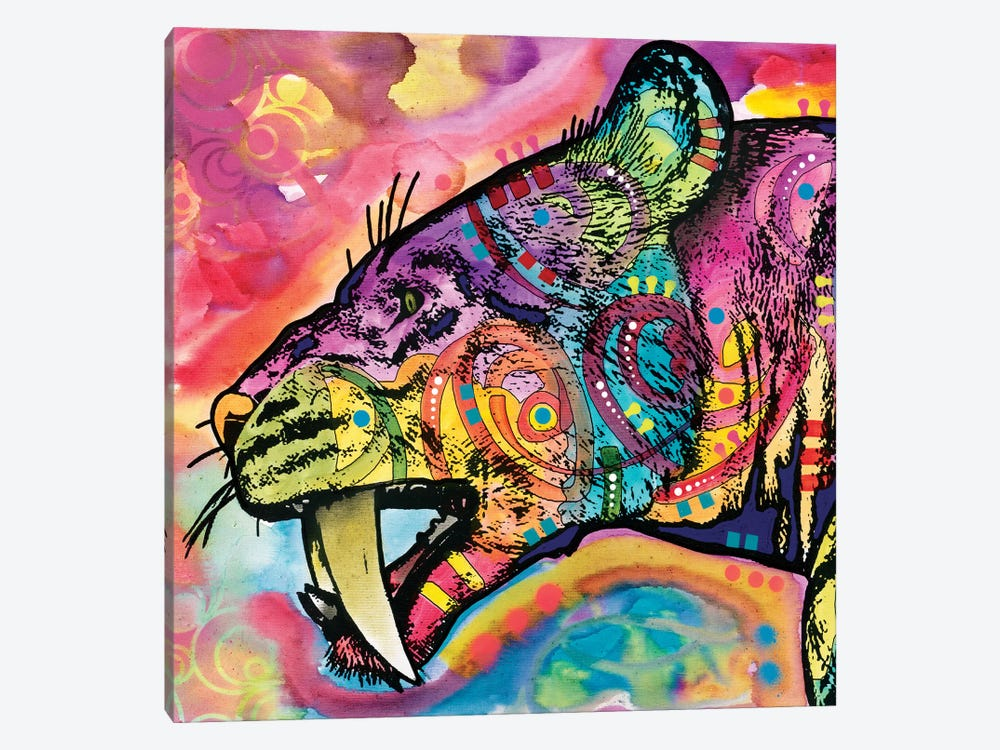 Saber Tooth by Dean Russo 1-piece Art Print