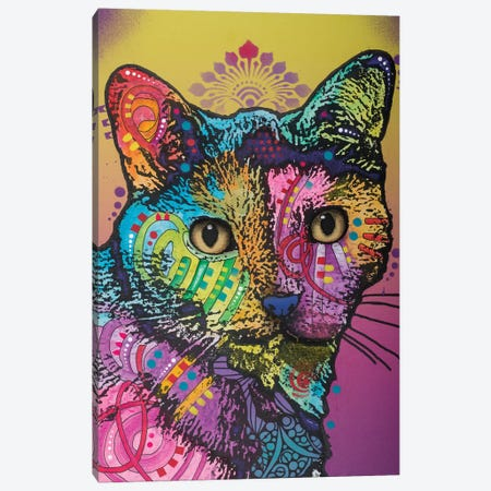 Sadie The Cat Canvas Print #DRO518} by Dean Russo Art Print