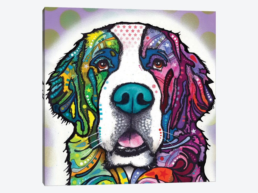 Saint Bernard by Dean Russo 1-piece Canvas Print