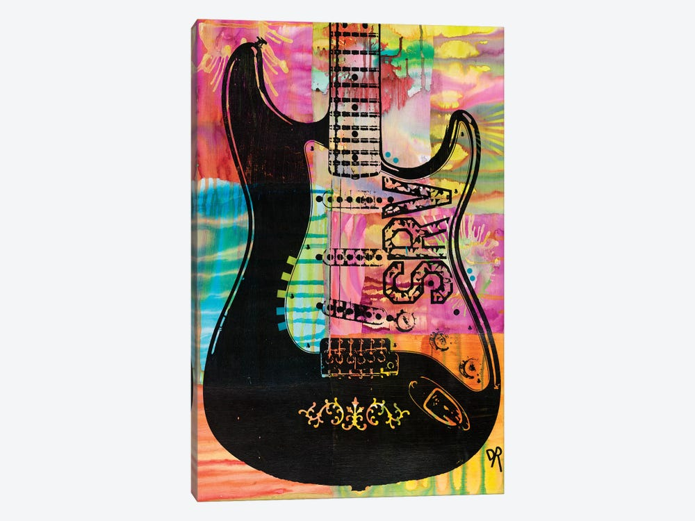 SRV Guitar by Dean Russo 1-piece Canvas Print