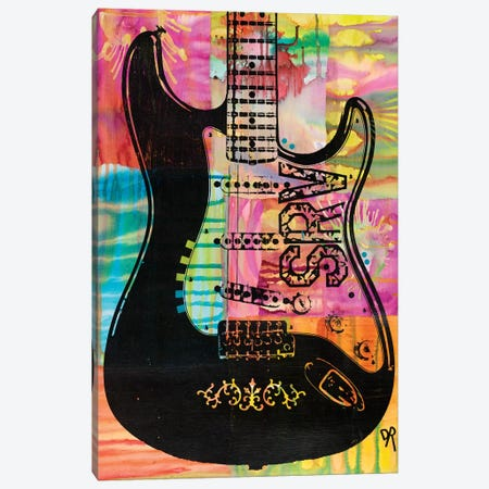SRV Guitar Canvas Print #DRO528} by Dean Russo Canvas Wall Art